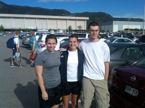 3 Cadets report to USAFA for Inprocessing